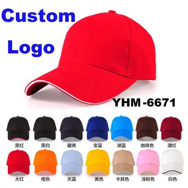 Promotional Logo Printed and embroidery Cheap Custom Baseball Cap
