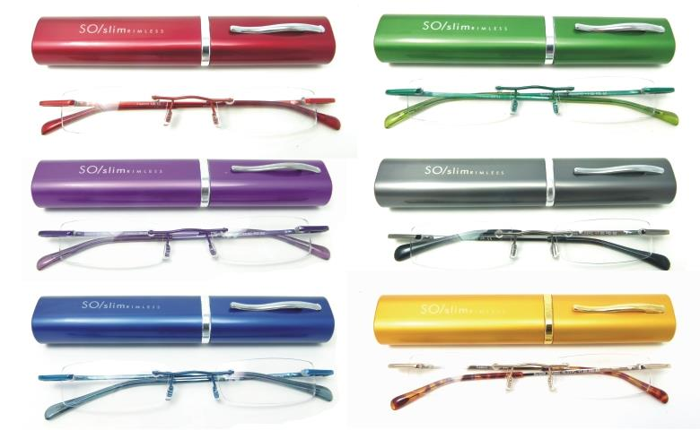 mini slim foldable tube reading glasses