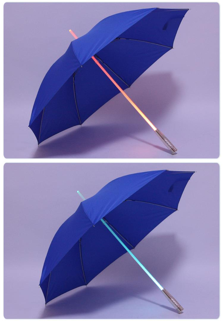 Manual open Straight LED Umbrella