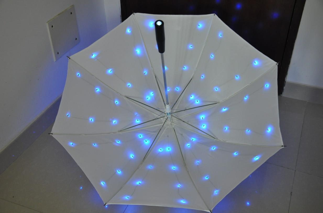 LED light umbrella with staight shaft