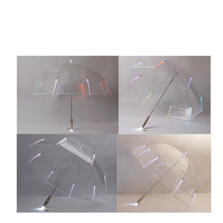 outdoor led umbrella transparent