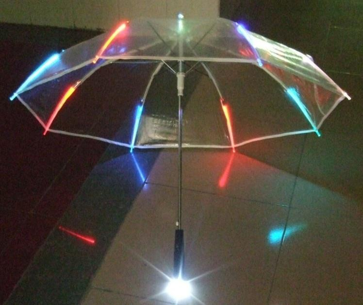 LED transparent outdoor umbrella