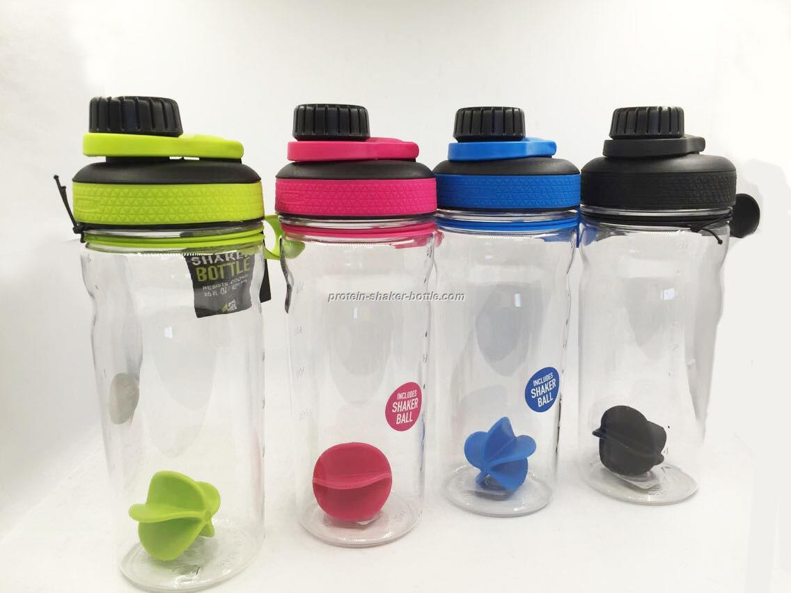 600ml sport plastic shaker bottle,blender protein shaker water bottle