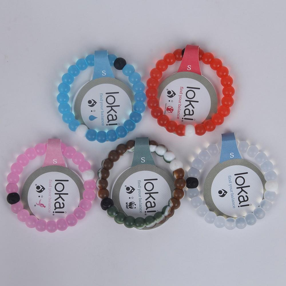 Lokai Bracelet 7 color High Transparent Silicone Clear Bracele