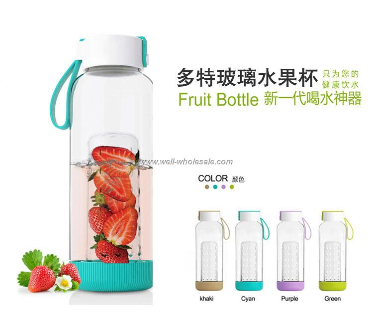 food grade fruit infuse water bottle