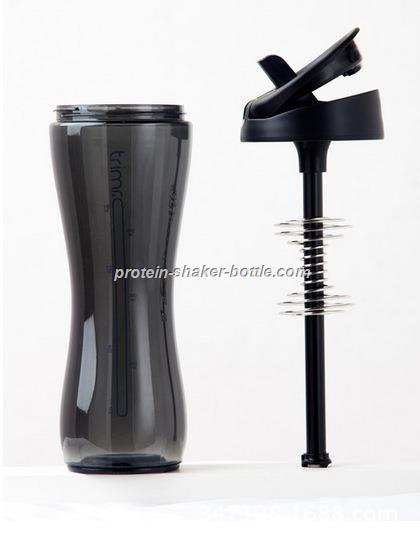 plastic water bottle protein shaker